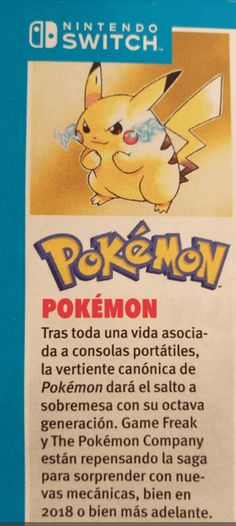 The official Nintendo Magazine confirms that Pokémon on Switch is for the eighth generation  #Nintendo #Switch #pokemon #Pokémon #game #games #gaming #News