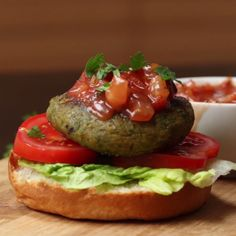 Feta-Stuffed Falafel Burgers