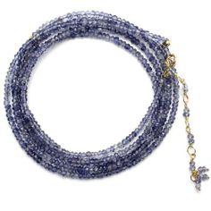 Anne Sportun Iolite Beaded Wrap Bracelet