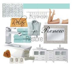 Relax.Restore.Renew by cknott on Polyvore featuring interior, interiors, interior design, home, home decor, interior decorating, Christy, Dot & Bo, Diptyque and Virtu