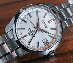 """Grand Seiko Hi-Beat 36,000 GMT Watch Hands-On - by James Stacey - See more versions in the photo gallery and read our impressions on aBlogtoWatch.com """"After a successful run at Baselworld last year with well-received new models like the 44GS, Grand Seiko has announced a GMT version of their Hi-Beat 36,000 Automatic SBGH line...""""  #ABTWBaselworld2014"""