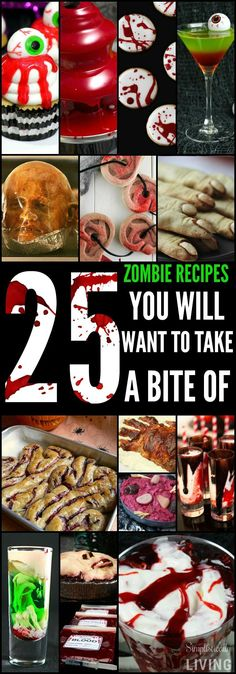 Halloween Recipes 25 Zombie Recipes You Will Want to Take a Bite of Simplistically Living Postres Halloween, Recetas Halloween, Dessert Halloween, Halloween Goodies, Halloween Food For Party, Halloween Birthday, Easy Halloween, Holidays Halloween, Halloween Treats