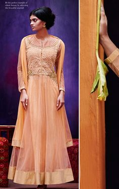 Picture of Loveable Light Orange Ready Made Wedding Wear Salwar Kameez