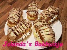 Bananensoezen – Jolanda's Bakhuisje Tapas, Eclairs, Puddings, Waffles, Cupcakes, Sweets, Breakfast, Hot, Ethnic Recipes
