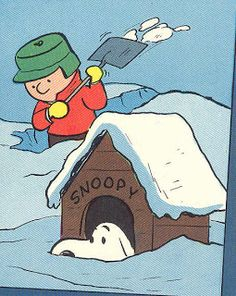 Charlie Brown shoveling & Snoopy partially buried under the snow. Peanuts Gang, Die Peanuts, Peanuts Cartoon, Peanuts Comics, Peanuts Christmas, Charlie Brown Christmas, Charlie Brown And Snoopy, Christmas Fun, Holiday