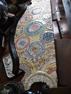 mosaic headboard by vintagebutterfly94, via Flickr - can't believe I forgot to take a pic of the final product.