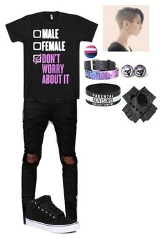"""Genderfluid"" by balletgirlnatalie ❤ liked on Polyvore featuring Vans and cutekawaii"