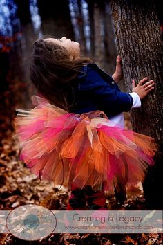 Love this fall tutu with those adorable tights underneath!! Thinking this would be great for Kori's 1 year photos :)