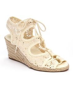 Look what I found on Beige Yoggy Espadrille by Bucco Lace Up Wedge Sandals, Beige Sandals, Lace Up High Heels, Lace Up Espadrilles, Lace Up Wedges, Espadrille Sandals, Wedge Shoes, Shoes Sandals, Crochet Sandals
