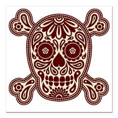 Decorative skull and bones in traditional Mexican style Royalty Free Stock Vector Art Illustration Mexican Art, Mexican Style, Pirate Flag Tattoo, Geeks, Crane, Sugar Skull Art, Sugar Skulls, Skull Coloring Pages, Estilo Rock