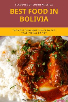 Rarely anyone talks about Bolivian food. It is a shame, because this country has a lot of delicious dishes to offer. Find out what to try and what to order when travelling to this Andean nation. Bolivia Food, Bolivia Travel, Pork Dishes, Tasty Dishes, World's Best Food, Latin Food, Afternoon Snacks, Foods To Eat, Travel Sights