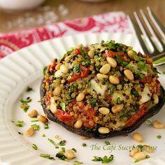 Quinoa & Spinach Stuffed Portobellos Capri