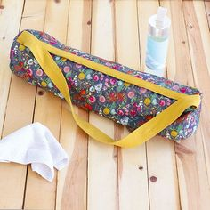 How to sew your own yoga bag - inspired by #sewingbee 2016 http://www.simplysewingmag.com/tutorials/sew-yoga-mat-bag-inspired-great-british-sewing-bee/