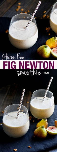 Gluten free Fig Newton Cookie Breakfast smoothie! Finally, a fiber rich and flavorful smoothie that will power you through the day! Vegan and Paleo friendly, and it bonus points because it actually tastes like a COOKIE! YUM! @lovegrownfoods