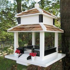 This elegant feeder is practical too - birds like cardinals love platform feeders! via ATG Stores