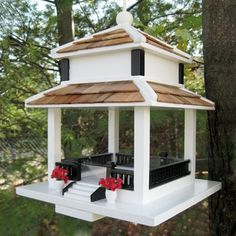 This elegant feeder is practical too - birds like cardinals love platform feeders! via ATG Stores