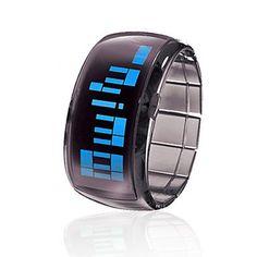 Bracelet Design Futuristic Blue LED Wrist Watch - Black lemongreen Watches,http://www.amazon.com/dp/B008X10B1G/ref=cm_sw_r_pi_dp_oJcotb13QJFND18R $10.48