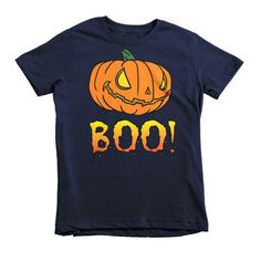 Graphic designer tee shirt featuring creepy Jack-O-Lantern pumpkin. Perfect  unique Samhain gift for kids. Everybody will love this scary pumpkin  Halloween ... a88d3459bcac3