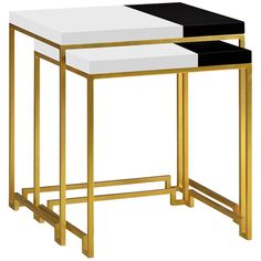 Simply Elegant Gilded Iron Nesting Table
