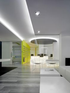Installation environment with LOOK by MomoDesign, applied to offices. — en Arkoslight.