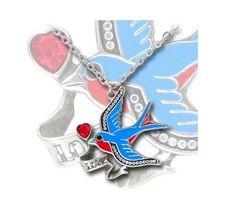 Alchemy UL 17 Swallow Love Tattoo Style Necklace $35