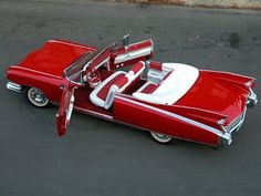 1959 Cadillac Eldorado, Red with Red & White interior. Cadillac Eldorado, Cadillac Escalade, Lowrider, Vintage Cars, Antique Cars, 1959 Cadillac, Us Cars, Automotive Design, Car Car