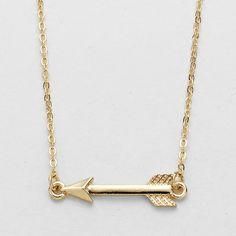 Arrow Pendant Necklace - Gold