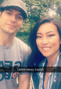 """Henry and fan. He's going back to Jersey...hmm, I don't think so. LL would be proud. Did I mention that the name """"Michi"""" is Asian. Thanks for the pic. It was cool meeting you in Hyde Park!"""