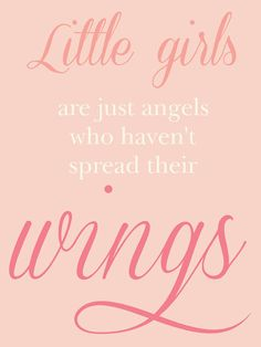 Typographic Quote Poster Print  Little Girls Are by NadiaInk, $20.00