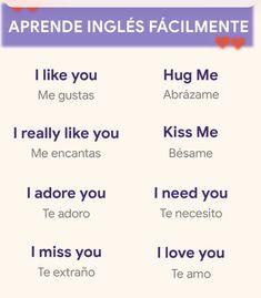 Spanish Phrases, Spanish Words, English Vocabulary Words, English Phrases, Learn English Words, How To Speak Spanish, Learning Spanish For Kids, Spanish Language Learning, Teaching Spanish