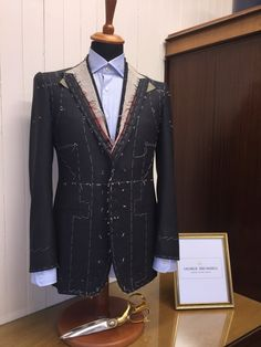 Bespoke Suit, Bespoke Tailoring, Hoopy Frood, Brand Book, Savile Row, Fashion Design Sketches, The Row, Suit Jacket, London