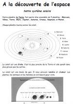 à la découverte de l'espace - cycle 2