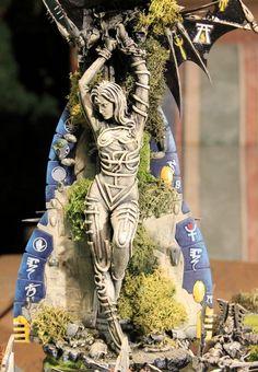 eldar Warhammer Eldar, Warhammer Terrain, Wargaming Terrain, Modelos 3d, Warhammer 40k Miniatures, Fantasy Miniatures, Miniature Crafts, Mini Paintings, Fantasy Illustration