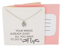 Sports Angelo Handmade Guardian Angel Wings Pendant for Sports Lovers, Fashion Necklace with Inspirational Quote on Greeting Card, 18 to 20 inches Friendship Jewelry, Angel Wing Pendant, Positive Vibes Only, Jewelry Quotes, Lucky Charm, Invite Your Friends, Cute Jewelry, Maid Of Honor, Customized Gifts