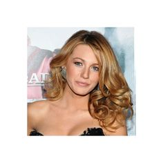 Blake Lively's Sideswept Curls So Long, Updos! Modern Prom Hairstyles... ❤ liked on Polyvore