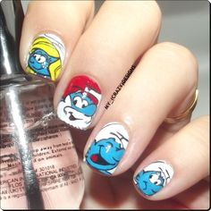 Nailpolis Museum of Nail Art | The Smurfs nails by Mycrazydesigns