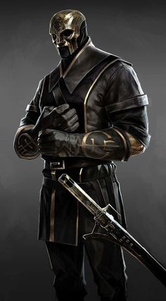 View an image titled 'Overseer Alt Design Art' in our Dishonored 2 art gallery featuring official character designs, concept art, and promo pictures. Fantasy Character Design, Character Design Inspiration, Character Concept, Character Art, Fantasy Armor, Dark Fantasy Art, Medieval Fantasy, Dnd Characters, Fantasy Characters