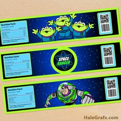 FREE Printable Toy Story Buzz Lightyear Water Bottle Labels