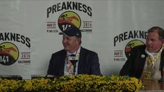 Preakness Stakes 141 Press Conference Preakness Stakes, Victorious, Conference, Company Logo, King, Sports, Trainers, Champs, Training