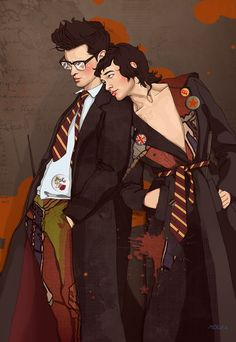 James Potter and Sirius Black by MARiKaArt