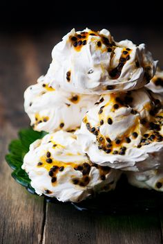 passion fruit meringues recipe | use real butter