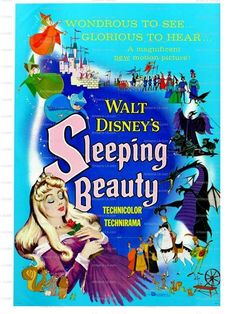 Sleeping Beauty Walt Disney 1959 Movie Poster ..