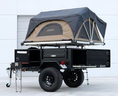 Trailer Awning, Off Road Camper Trailer, Trailer Build, Camper Trailers, Off Road Camping, Jeep Camping, Camping Stuff, Expedition Trailer, Overland Trailer