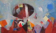 Deolinda Fonseca The Miraculous Weather machine - 145)14 2014 Oil x Canvas 57 cm x 96 cm  #DeolindaFonseca #Art #Follow #SaoMamede #Gallery #exhibition #artwork