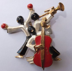 Vintage Art Deco Germany Enamel Jazz Musician Brooch | eBay