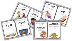 Printing Videos Technology Architecture French Videos For Kids Link How To Speak French, Learn French, Montessori Activities, Educational Activities, Grade 1 Reading, French Flashcards, Education And Literacy, French Classroom, French Resources