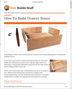 Best Of Building Cabinet Drawer Boxes