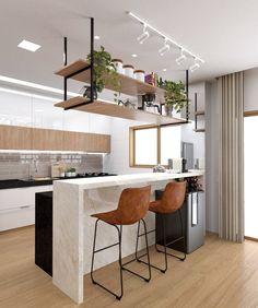 Apartment Kitchen, Home Decor Kitchen, Kitchen Furniture, New Kitchen, Home Kitchens, Kitchen Bar Design, Industrial Kitchen Design, Interior Design Kitchen, Kitchen Remodel