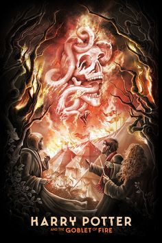 Harry Potter and the Goblet of Fire🔥 Studio Muti Harry Potter Poster, Images Harry Potter, Arte Do Harry Potter, Harry Potter Comics, Theme Harry Potter, Rowling Harry Potter, Harry Potter Drawings, Harry Potter Love, Harry Potter World