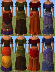 I'd love the skirt-half of the green one, with my lacy cream peasant blouse gypsy style clothes - Bing Afbeeldingen Hippie Style Clothing, Hippie Outfits, Gypsy Style, Boho Gypsy, Gypsy Clothing, Style Clothes, Boho Style, Renaissance Gypsy, Renaissance Festival Costumes